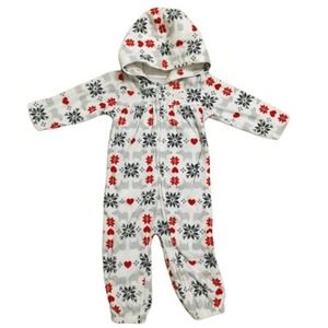 Carter's Hooded Winter Jumpsuit Fair Isle 9 M